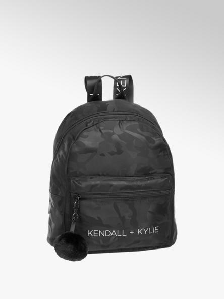 Kendall + Kylie Zwarte rugtas pompom