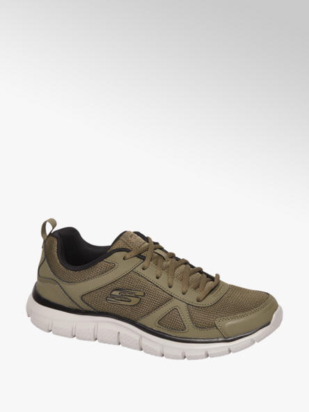 Skechers Olijfgroene sneaker vetersluiting
