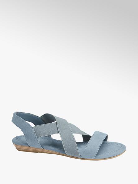 Graceland Blauwe sandaal elastieken