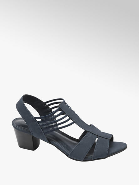 Graceland Donkerblauwe sandaal elastiek