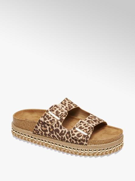 Graceland Leopard pantolette gespen