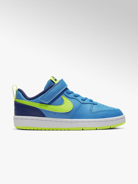 Nike Blauwe Court Borough 2 klittenband