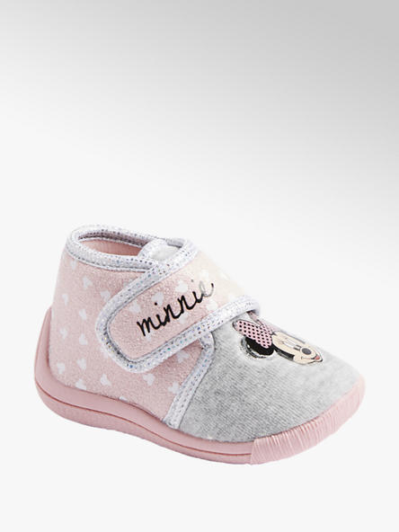 Minnie Mouse Roze pantoffel klittenband