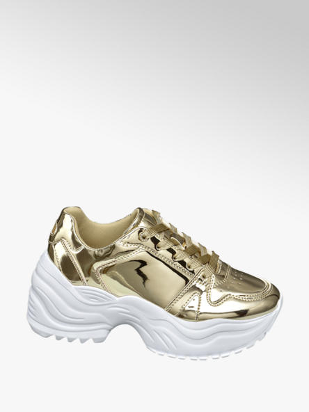 Star Collection Gouden chunky sneaker holografisch