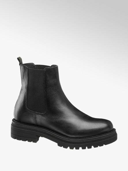 5th Avenue Zwarte leren chelsea boot
