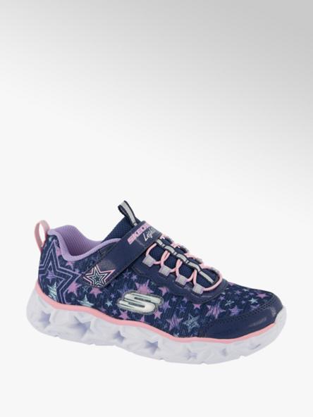 Skechers Blauwe lightweight sneaker lichtjes