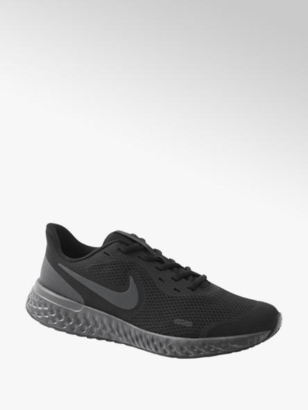 NIKE Teen Boys Nike Revolution 5 Black Lace-up Trainers