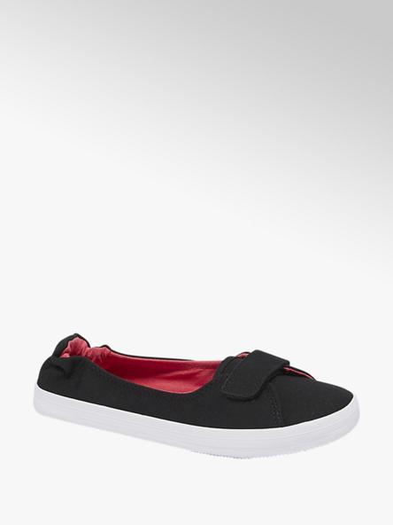Vty Дамски черни текстилни обувки с велкро Vty