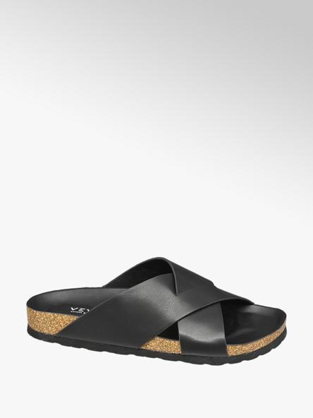 Venice Zwarte slipper