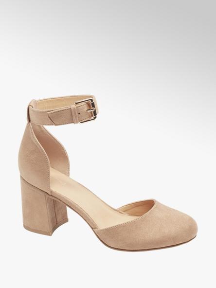 Graceland Pantofi bej Gracelend de dama cu toc