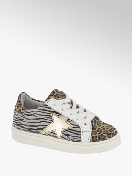 Cupcake Couture Witte leren sneaker animalprint