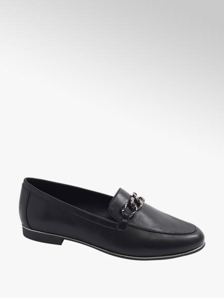 Graceland Black Metal Trim Loafers