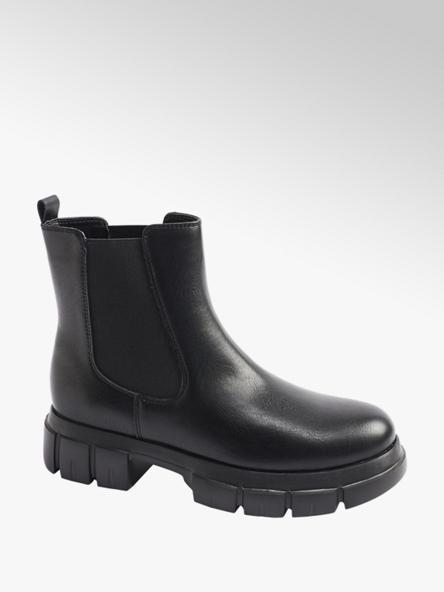 Catwalk Black Chunky Chelsea Boots