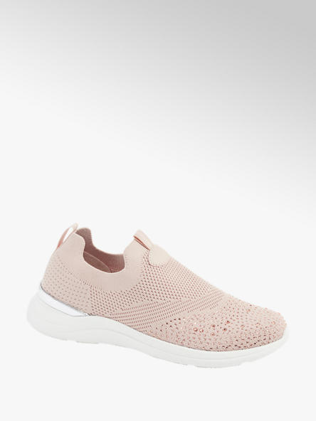 Venice Ladies Knitted Embellished Slip On Trainers