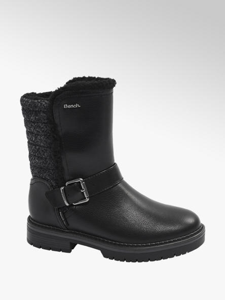 Bench Black Warm Lined Boots
