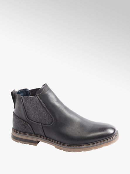 Venice Mens Venice Black Formal Slip-on Boots