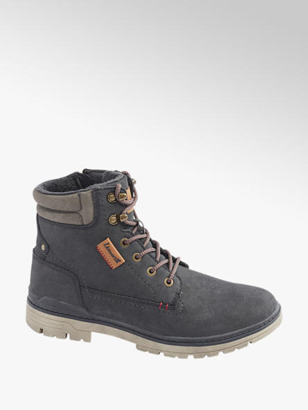 Landrover Mens Landrover Grey Casual Lace-up Boots