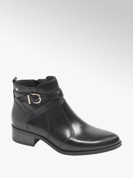 5th Avenue Black Leather Chelsea Boots