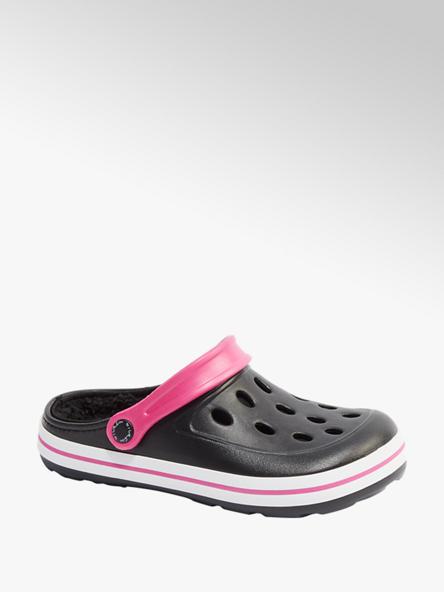 Blue Fin Ladies Blue Fin Black/ Pink Clog