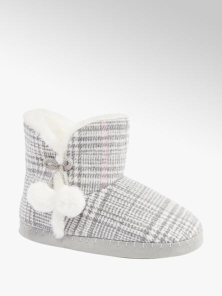Esprit Grijze halfhoge pantoffel warmgevoerd