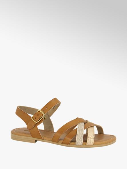 Graceland Cognac sandaal
