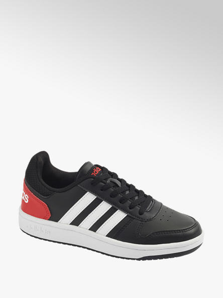 adidas Юношески черни сникъри adidas HOOPS 2.0 K