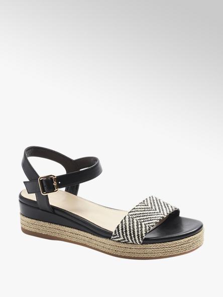 Graceland Дамски черни сандали с платформа Graceland