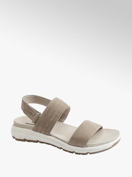Romika  Taupe nubuck sandaal velcro