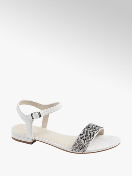 Graceland Дамски сребристи сандали Graceland