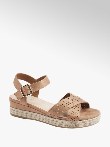 Graceland Дамски кафяви сандали с платформа Graceland