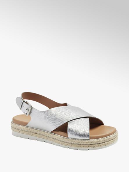 Catwalk Дамски сребристи сандали с платформа Catwalk