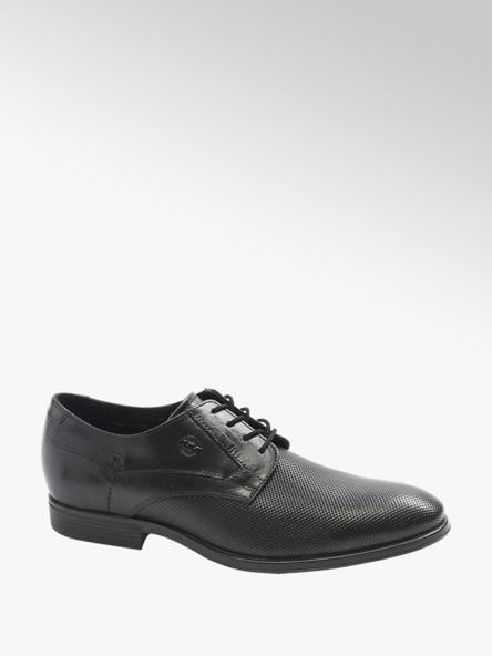 AM SHOE Мъжки кожени черни официални обувки AM SHOE