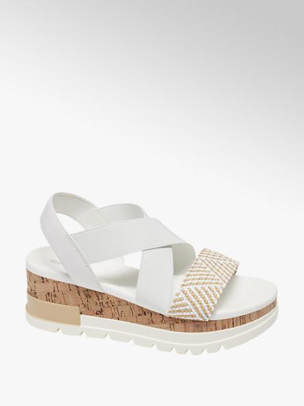 Graceland Дамски бели сандали с платформа Graceland