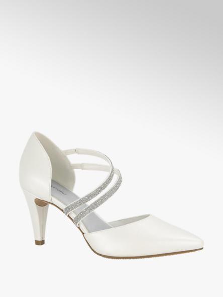 Graceland Witte pump glitter