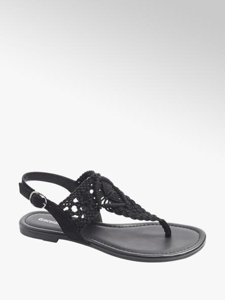 Graceland Дамски черни сандали Graceland