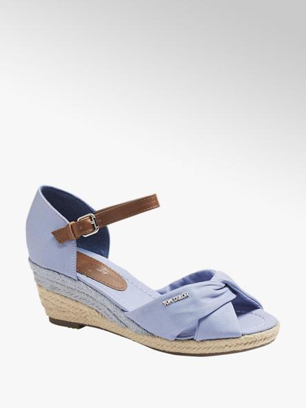 Tom Tailor Дамски сини сандали с платформа Tom Tailor