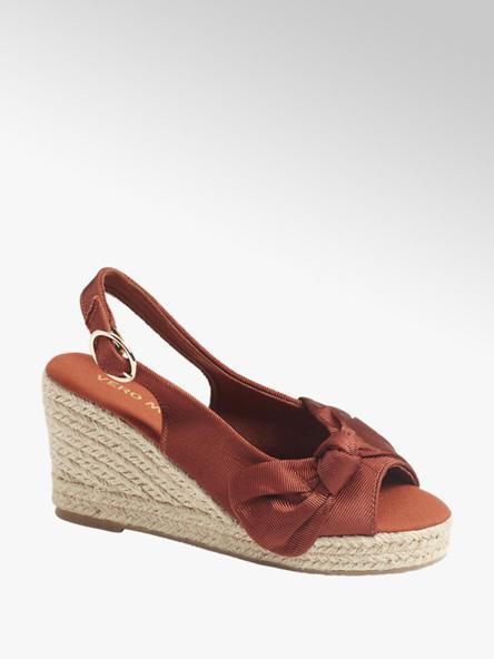 Vero Moda Дамски кафяви сандали с палтформа Vero Moda
