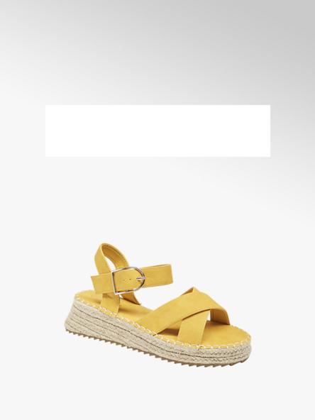 Graceland Дамски жълти сандали Graceland