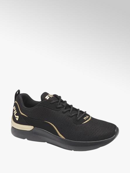 Fila czarne sneakersy damskie Fila ze złotymi elementami