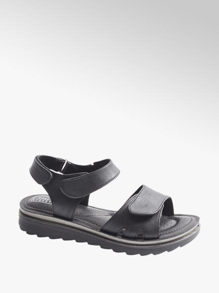 Easy Street Zwarte sandaal klittenband