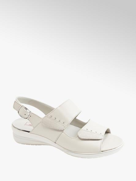 Medicus kremowe sandały damskie Medicus zapinane na rzepy