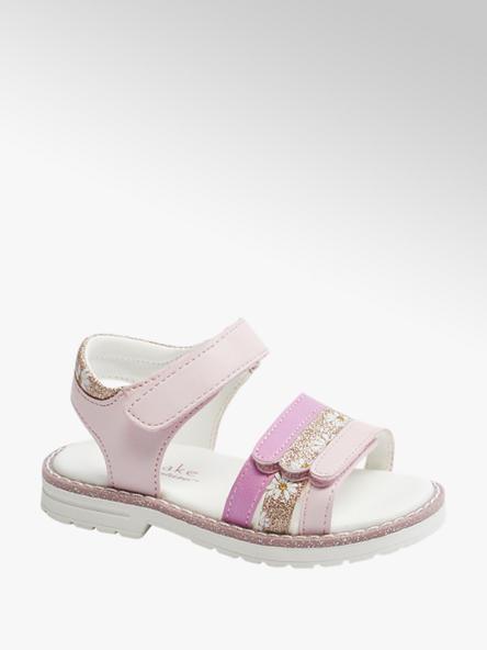 Cupcake Couture Детски розови сандали с велкро Cupcake Couture