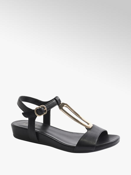 Easy Street Дамски черни комфортни сандали Easy Street