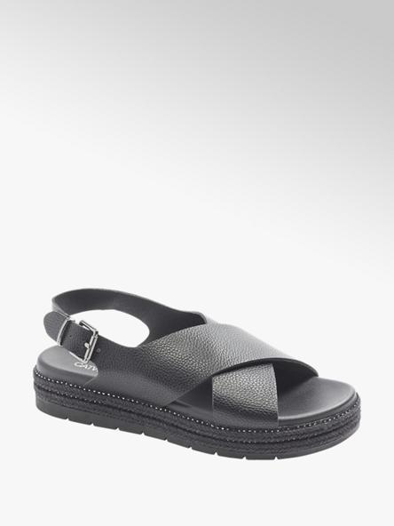 Catwalk Дамски черни сандали с палтформа Catwalk