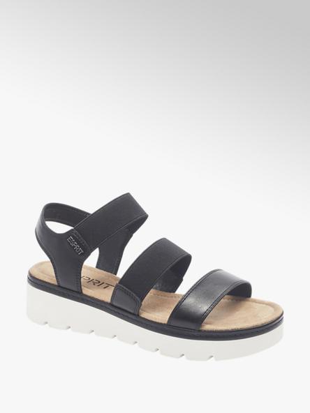 Esprit Zwarte sandalette elastisch