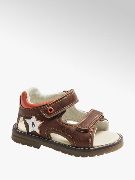 Bobbi-Shoes Детски кафяви сандали с велкро Bobbi-Shoes