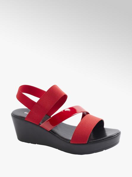 Graceland Дамски червени сандали с платформа Graceland