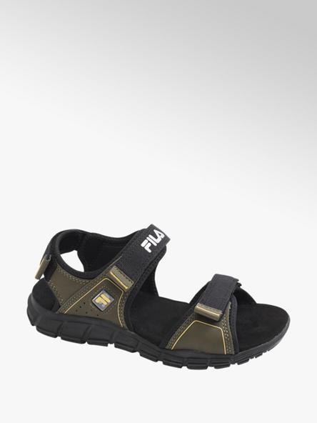 Fila czarno-zielone sandały chłopięce Fila