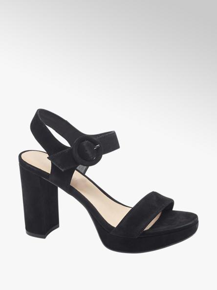5th Avenue Zwarte sandalette suede