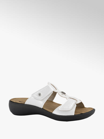 Romika  Witte slipper velcro